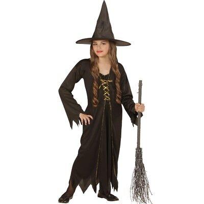 Gr. 158 für 11- 13 J. SCHWARZ Halloween Mädchen Hexen 0438 (Halloween-kostüme Für 13)