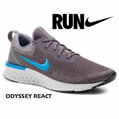 Nike ODYSSEY REACT AO9819-008 Men's Running Gym Shoe Thunder Grey Blue size 13