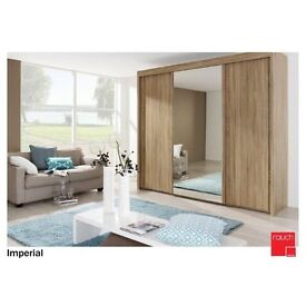 Large Modern Sliding Door Wardrobes 18mths old
