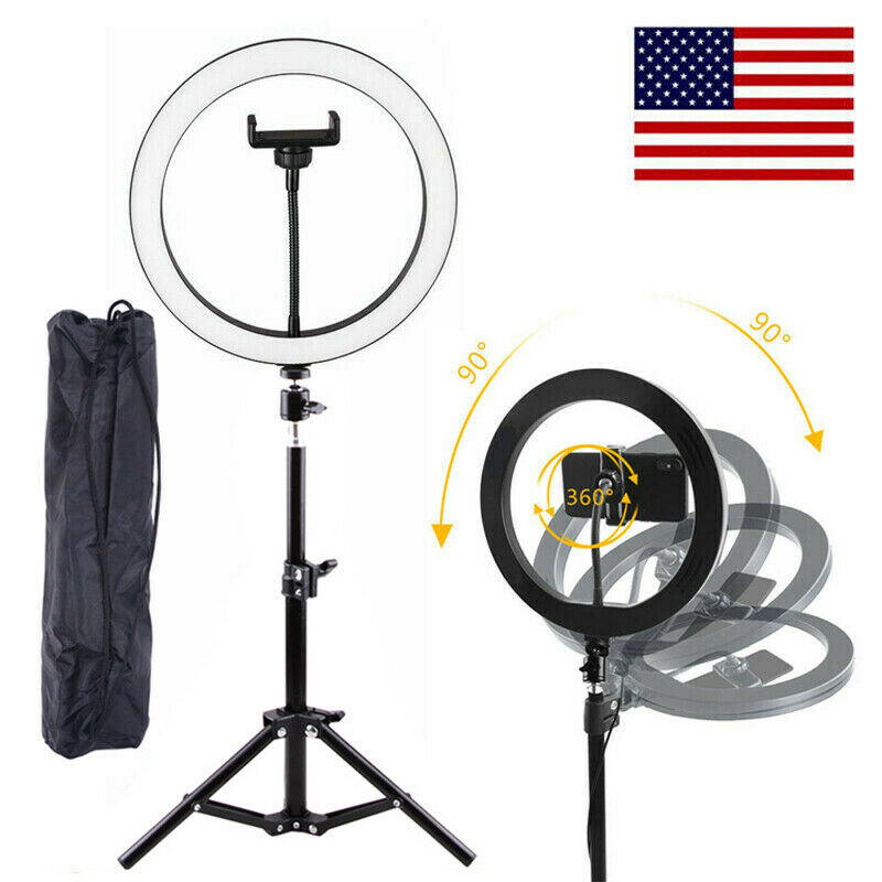 10-Inch Selfie LED Ring Light With Stand Phone Holder Set for Live Vedio Makeup