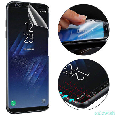Soft Clear TPU Screen Protector Film For Samsung Galaxy Note8 S7 S8 S9+ WQ Clear Screen Protector Film