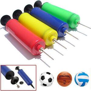 Inflator Hand Sports Air Pump Needle Ball Adapter For Soccer Football Basketball