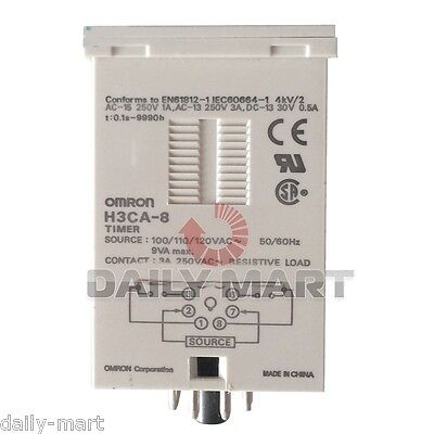 Omron Timer H3ca-8 H3ca8 100110120vac Original New In Box Nib Free Ship
