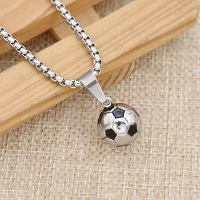 Football Necklace Soccer Sports Style Charm Jewelry Stainless Steel Chain - Soccer Jewelry