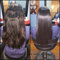 JAPANESE HAIR STRAIGHTENING KERATIN TREATMENT OLAPLEX TREATMENT