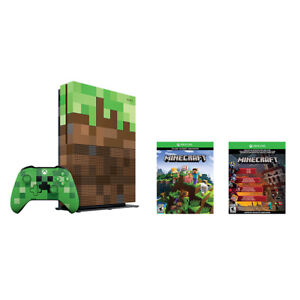 Xbox One S 1TB Limited Minecraft Edition Bundle with Creeper Con