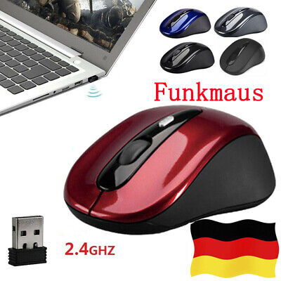 Wireless USB Gaming Funkmaus Mouse 2.4GHz USB Adapter Kabellose Mäuse