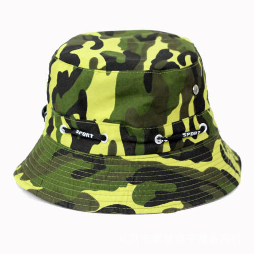 Men Women Camouflage Bucket Hat Summer Holiday Adjustable Fishinng Casual Caps Clothing, Shoes & Accessories