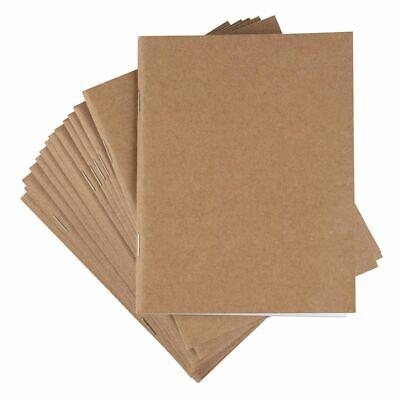 24 Pack A6 Kraft Unlined Paper Notebook, Blank Journals Bulk for Travelers Kids
