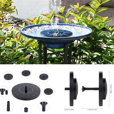 Floating Solar Powered Water Fountain Garden Pump Pond For Bird Bath Tank