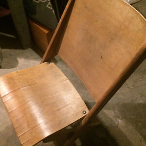 Antique folding wooden chair