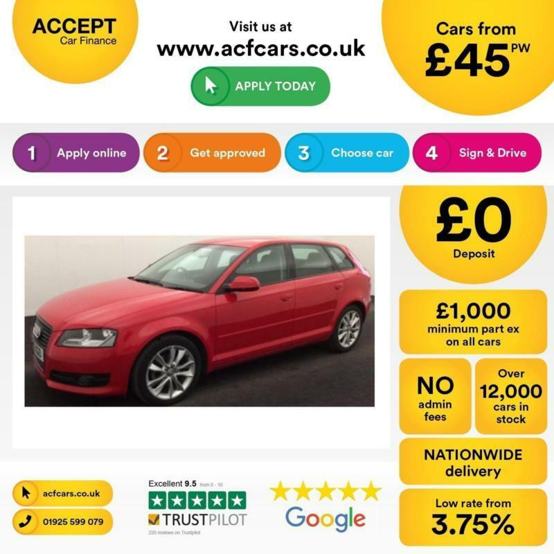Audi A3 2.0TDI ( 140ps ) Sportback 2012MY Sport FROM £45 PER WEEK!