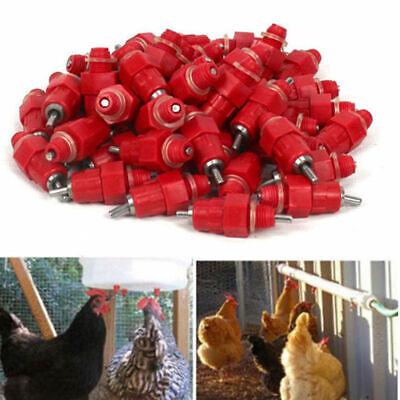 30 Pcs Automatic Chicken Water Drinker Feeders Poultry Hen Duck Screw Style