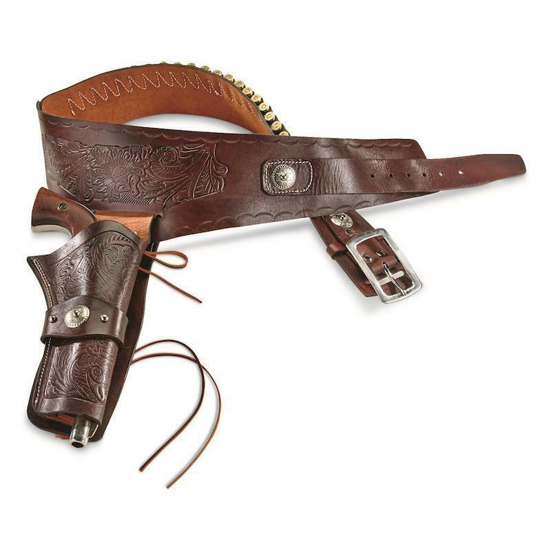 Old West Guide Gear Single Action Leather Holster Belt Collectible