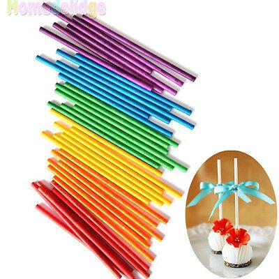 50pcs Colorful Pop Lollipop Sticks Candy Cake Chocholate Sugar Paste - Cake Pop Tools