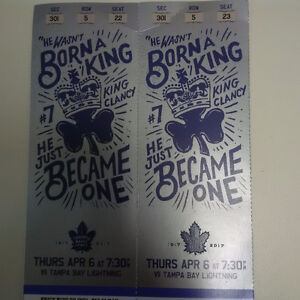 Leaf Tickets for April 6th vs. Tampa Bay
