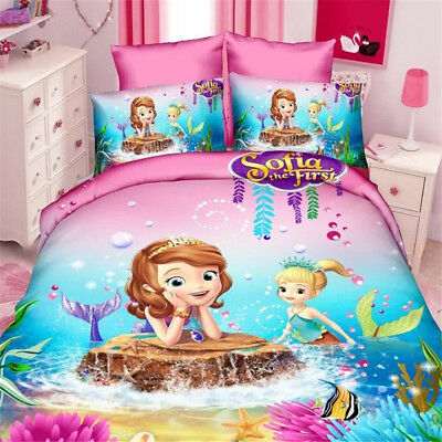 Home Textiles lovely Sofia cartoon style bedding set cover bed Girls Kids 2018