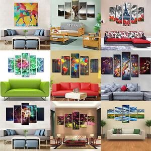 5 pannello tela stampe moderno arredo casa da parete arte for Stampe da parete