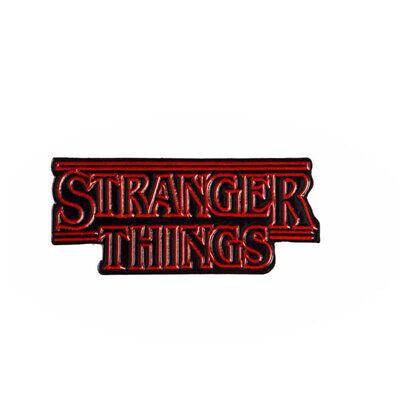 Stranger Things Logo TV Enamel Pin Lapel Brooch for women backpack bag coat (Logo Tv)
