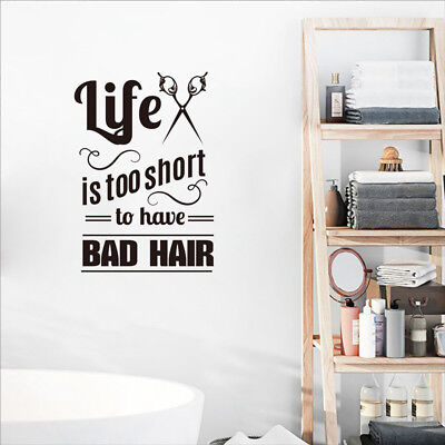 Hair Salon Vinyl Wall Decals Hairdresser Stylist For Barbershop Art Mural Decor - Salon Decorations