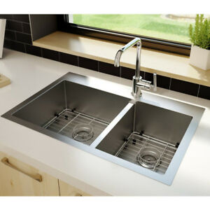 Square Stainless Sink.