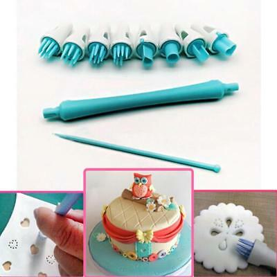 Decorating Baking Mould Fondant Cake Cookie Sugar Craft Icing Cutter Tool CO (Sugar Cookie Decorating)