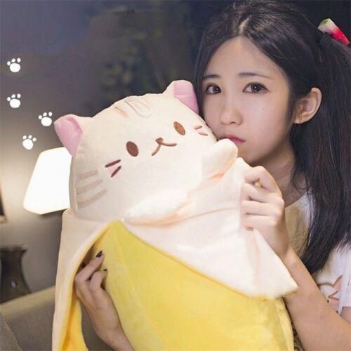 Anime Bananya Banana Cat Plush Toy Sofa Cushion Kid/'s Gift Cartoon Stuffed Doll#