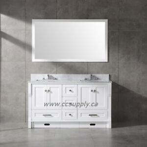 "60"" Double sink SOLID WOOD Bathroom Vanities ( Warehouse Sale)"