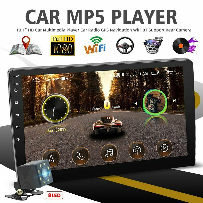 """10.1"""" Android9.1 Car MP5 Player Stereo GPS Navi Double 2Din WiFi Quad Core Radio"""