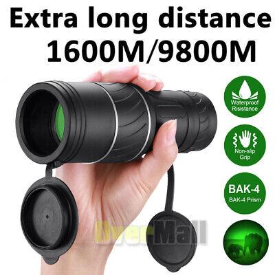 40X60 HD OPTICS BAK4 Night Vision Monocular High Power Telescope Portable+Case
