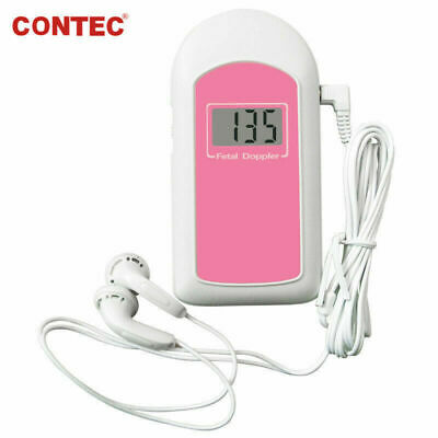 Contec Pocket Fetal Doppler Prenatal Heart Rate Monitor Babysoundbfree Gel New