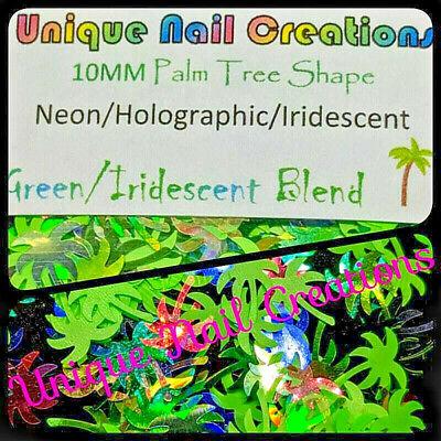 PALM TREE SHAPE GLITTER Holo/Neon~Nail•Acrylic•Gel•Body -