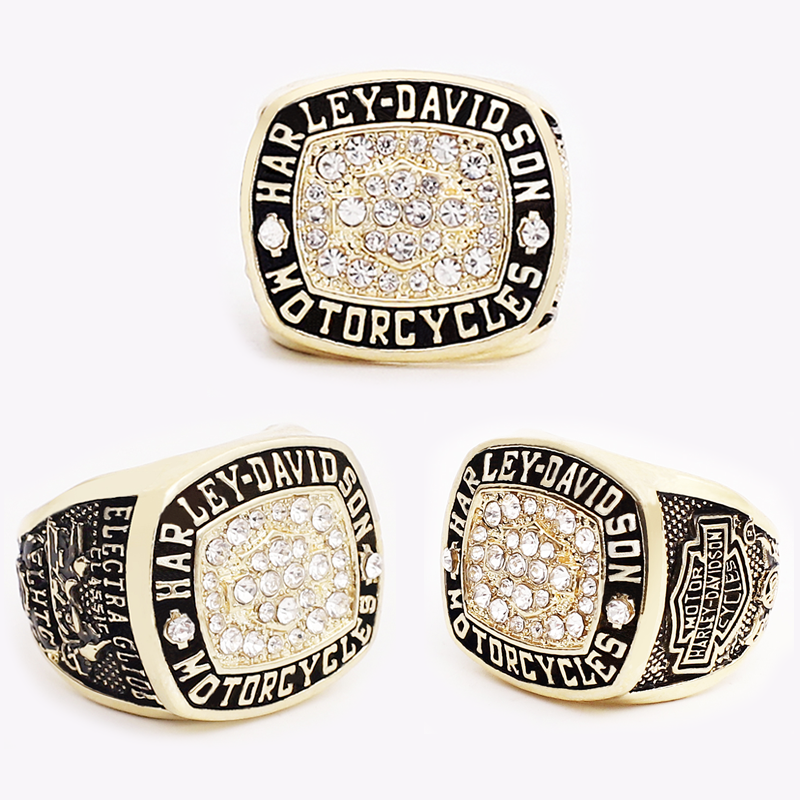 Harley-Davidson Mens Ring Electra Glide Classic Gold Size 6-15. Limited Edition - $27.98