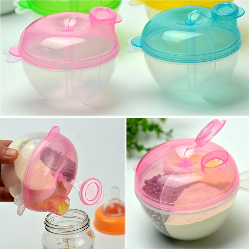 EP/_ Baby Formula Milk Powder Dispenser 4 Layers Infant Food Storage Container Br