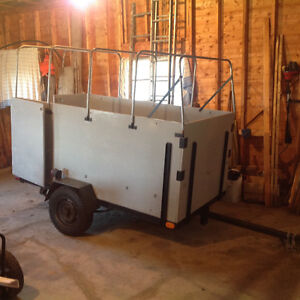 utility trailer with high sides and cover