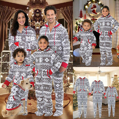 Family Matching Christmas Pajamas Set Women Baby Kids Sleepwear Nightwear New