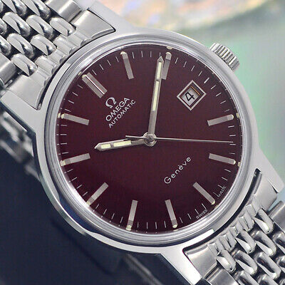 VINTAGE OMEGA Geneve AUTOMATIC CAL.1481 DATE ST.STEEL ANALOG DRESS MEN