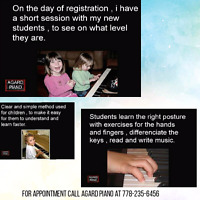 Piano lessons in your home.