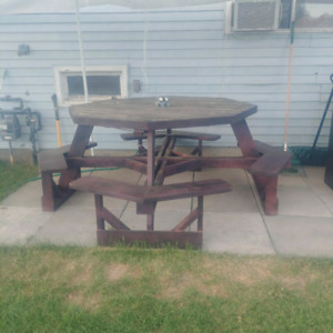 8 seater Octagon picnic table NEW