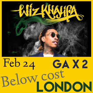 BELOW COST Wiz Khalifa Feb 24, London 2 x GA