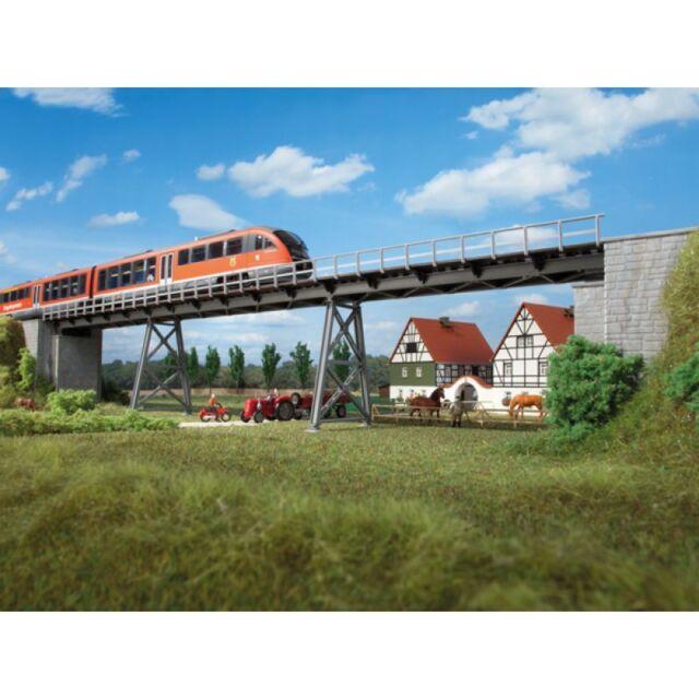 AUHAGEN HO scale - STEEL PLATE BRIDGE - plastic model kitset # 11341
