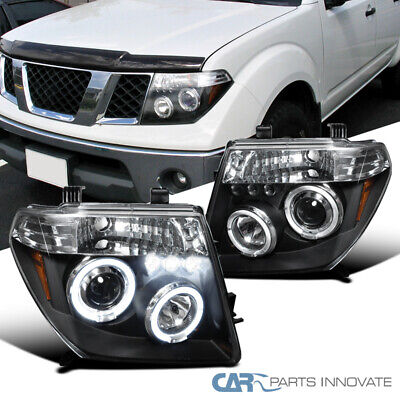 For 05-08 Nissan Frontier 05-07 Pathfinder Black LED Halo Projector -