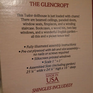 Greenleaf 'The Glencroft' Wooden Dollhouse Kit Edmonton Edmonton Area image 3