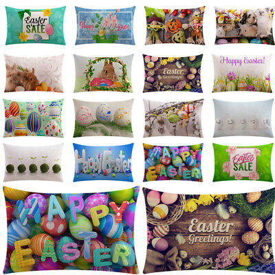 2018 Happy Easter Sofa Bed Home Decoration Festival Pillow Case Cushion Cover
