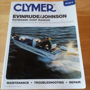 Clymer Shop Manual Evinrude-Johnson 1995-2003 2-70 HP two stroke