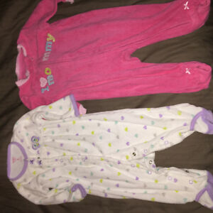 One piece suits for baby and top