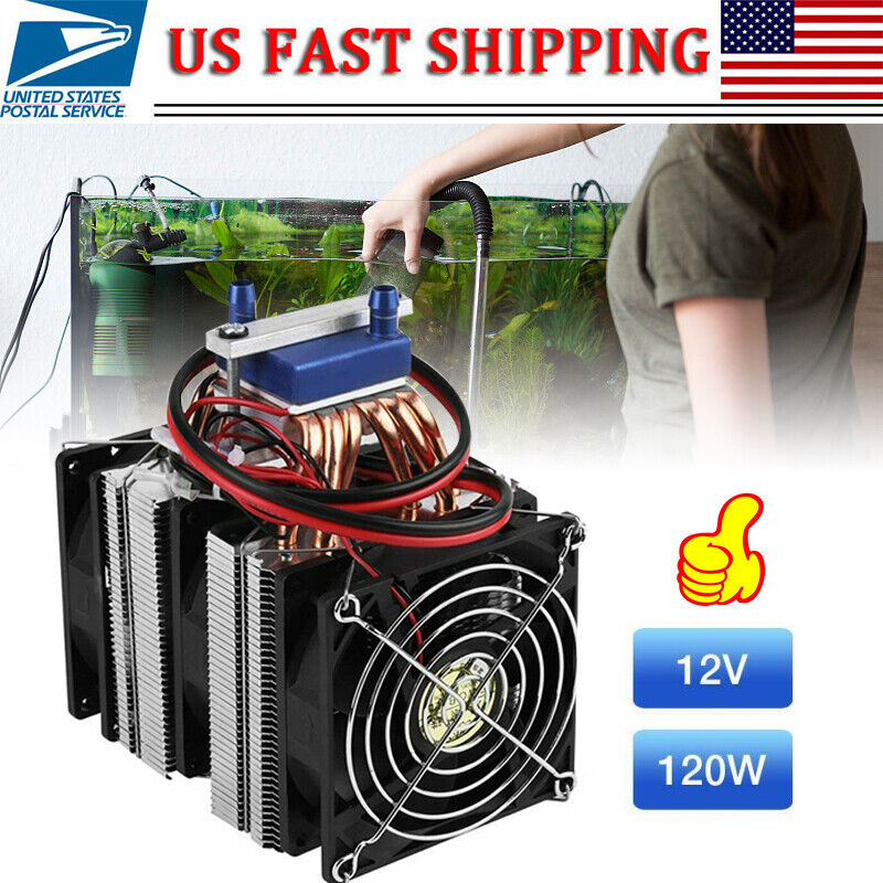 Thermoelectric Peltier Refrigeration DIY Water Cooling System Cooler Set 12V