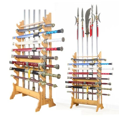 Multi-Use Wushu Long Weapon Racks Sword Stands Martial Arts Swords Stands