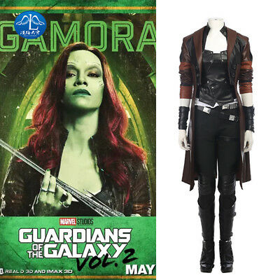 Guardians of the Galaxy Vol. 2 Gamora Cosplay Costume Halloween Outfit Full (Gamora Halloween Kostüm)
