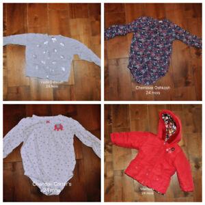 Lot vêtements bb fille 24 mois